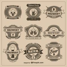 Emblemas da cerveja do vintage