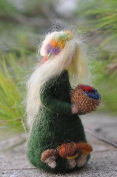 Needle Felted Waldorf Wool Fairy-Summer-Waldorf by darialvovsky by lindsay0