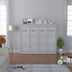 Bed & Room Brisbane Queen Portrait Wall Bed in White Murphy Bed Ikea, Murphy Bed Plans, Full Size Murphy Bed, Murphy Bes, Brisbane, Modern Murphy Beds, Full Size Mattress, Portrait Wall, Bed Slats