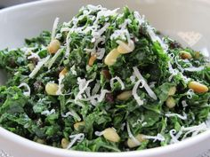 Melt In Your Mouth Kale Salad - Food Babe (using a food processor to chop the kale fine)