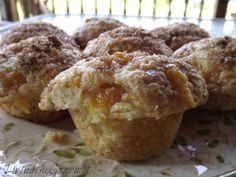 Fresh Peach Muffins to die for!  GREAT recipe.
