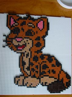 Baby jaguar hama beads by Hester