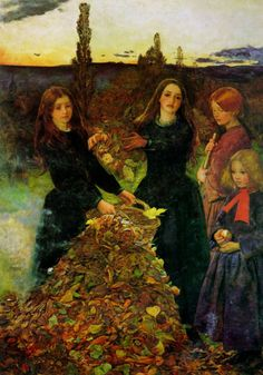 Autumn Leaves : Sir John Everett Millais