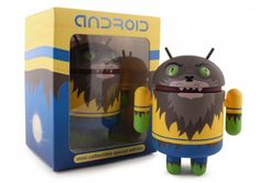 An Android figure, decoed like a werewolf... just for Halloween!