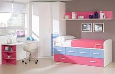 Color combination kids bedroom blue pink girl room design ideas