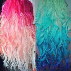 "Pastel and Bright Hair Colors Inspirations from Beauties and Celebrities colorful hair extensions Impressive hair color!!! Would you like to customize your colorful ombré hair extensions? Use Code ""instagram"" to get $8/€8 off! blue ombre and red ombre colorful hair colors Join Our Instagram with @VP Fashion or #vpfashion."