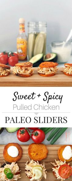 Mouthwatering and fun to eat! Comes together in just 20 minutes! Sweet Spicy Paleo Sliders with Sweet Potato Buns! Paleo Diet Meal Plan, Diet Meal Plans, Paleo Whole 30, Whole 30 Recipes, Sweet Potato Buns, Snacks Für Party, Sweet And Spicy, Weeknight Meals, Paleo Recipes