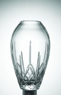 """Named after County Longford, in the midlands of Ireland, a viking town literally translated as 'Long port"""". The longest running Galway pattern, this quite proves popular from generation to generation. The Longford Tulip Vase is 12"""". Also available in 10"""" and 14"""". From Ireland."""