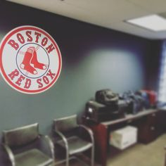Thank you Randell for the awesome #RedSox #fathead for my new office at @AutoAlert downtown #KansasCity Just in time for #Baseball season. #RedSoxNation