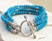 Turquoise Bracelet. Blue Chalk Turquoise Bracelet. Six Strand Toggle Bracelet. Turquoise Jewelry Beaded Anklets, Beaded Jewelry, Handmade Jewelry, Ankle Bracelets, Jewelry Bracelets, Jewelery, Jewelry Accessories, Jewelry Design, Diy Jewelry Inspiration