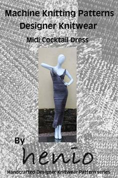 Midi Cocktail Dress Knitting Pattern