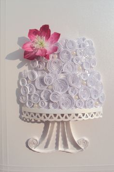 Quilled Wedding cake card