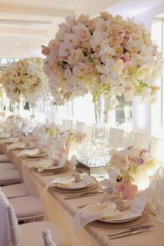 12 Long Wedding Tables You'll Love ~ Milque Photography, Karen Tran Florals and Events  | http://bellethemagazine.com