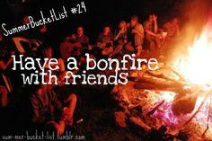 Bonfire ad. Would make a cool series. Summer bucket list.