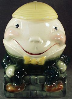 Old Humpty Dumpty Cookie Jar by Brush