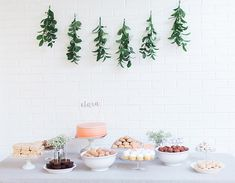 although a first birthday dessert table, this would be beautiful for a girl or even gender neutral baby shower.
