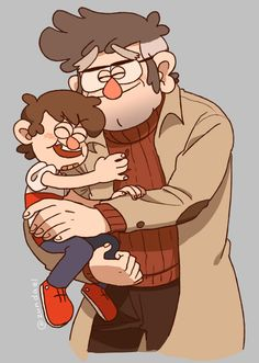 kid!Stan and old!Ford - art by zundael