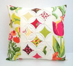Quilted Modern Decorative Pillow Cover Throw Pillow Cathedral Window 16 Inch #Glimpse_by_TheFind