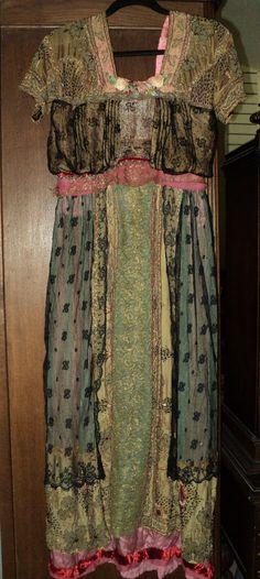 Museum Quality Titanic Era Dress handmade Metallic by Bellasoiree, $1200.00