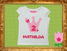 ♥ GEBURTSTAGS-T-SHIRT + NAME ♥ PRINCESS FOR 1 DAY von HerzicH auf DaWanda.com