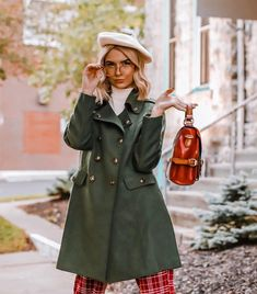 Psst, can you keep a secret? Which is why we can't keep this olive green car coat from our ModCloth namesake. My Outfit, Outfit Of The Day, Cold Weather Outfits, Female Fashion, Modcloth, Vintage Looks, Olive Green, Fall Outfits, Style Me