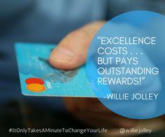 Develop an attitude of EXCELLENCE! #MondayMotivation #Excellence #AttitudeIsEverything #ItOnlyTakesAMinuteToChangeYourLife