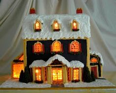 Rock Recipes -The Best Food & Photos from my St. John's, Newfoundland Kitchen.: Detailed Instructions for Making a Lighted Gingerbread House