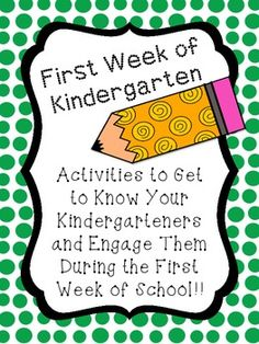 This 62 page packet has 12 different items to help with Back to School! Set includes: A First Day Book for Kindergarteners (on sheets and in. Kindergarten First Week, Welcome To Kindergarten, First Week Activities, Student Teaching, Kindergarten Classroom, Kindergarten Activities, Back To School Activities, Teaching Ideas, School Ideas