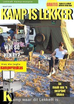 Kamp is LekkerTydskrif-Maart Kamp is Lekker Tydskrif is propvol lekker stories en kampplekke Places To Visit, Comic Books, Comics, Cover, Cartoons, Cartoons, Comic, Comic Book, Comics And Cartoons