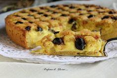 Crostata amalfitana Italian Pastries, Italian Desserts, Almond Paste Cookies, Delicious Desserts, Yummy Food, Torte Cake, Food Fantasy, Dessert Cake Recipes, Sweet Pie