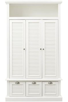 Shutter Collection Storage - available in off white, black, espresso, cherry from Home Decorators