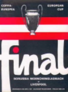 Liverpool v Borussia Moenchengladbach  European Cup Final programme  May 1977