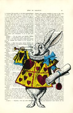 Alice In Wonderland Print Vintage Dictionary by MadameMemento, $10.99