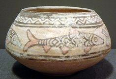 "Indus Valley Civilization Terracotta Vessel - LO.513 Origin: Pakistan/Western India Circa: 3500 BC to 2000 BC Dimensions: 4.5"" (11.4cm) high x 6.5"" (16.5cm) wide Collection: Asian Medium: Terracotta £3,600.00 Location: Great Britain"