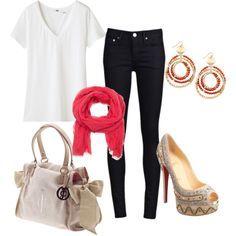 Dressing up a white tee with accessories