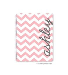 Personalized Spiral Notebook Monogrammed School by swankypress