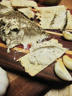 Aged Cashew Cheese with herbes de Provence...Great appetizer!