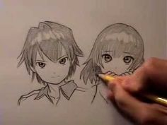 How to Draw Manga Hair, 2 Ways [RE-UPLOAD w/ AUDIO]
