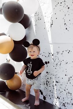 OTIS' MODERN MICKEY MOUSE FIRST BIRTHDAY PARTY Mickey Mouse First Birthday, Mickey Mouse Cake, Mickey Mouse Birthday, First Birthday Parties, First Birthdays, Disneyland Birthday, Mickey Cakes, 2nd Birthday, Birthday Ideas