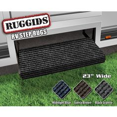 Ruggids RV Step Rugs have deep treads that trap dirt at the door.