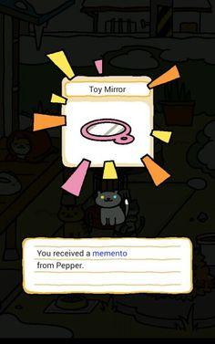 Neko Atsume, memento from Pepper.