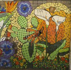 """Rk Mosaico Mural realizado por RK Mosaico . Mural de mosaico: """"Primavera 2017 CDMX"""" Medidas 1.50 x 1.22 m Detalle..."""