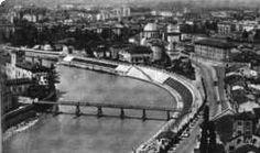 Verona - La passerella provvisoria sull' Adige in funzione tra il 1945 e il 1957 a sostituzione di Ponte Pietra