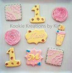 Rose garden cookies - Kookie Kreations by Kim