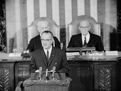 1964 - President Lyndon Johnson announced his War on Poverty.