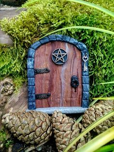 Witches Fairy Door MAGICAL with Pentacle by TheCaterpillarQueen, £11.95