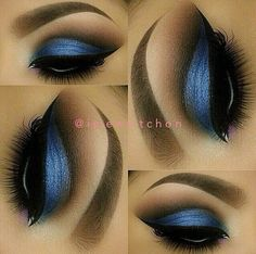Perefct eyes and brows...clean lines make this look Flawless!!