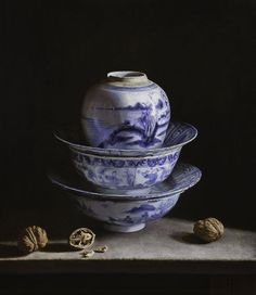 Erkin, Still life mit porcelain vessel and walnuts, oil painting Still Life Photos, Still Life Art, Realistic Paintings, Paintings I Love, Hyperrealistic Art, Painter Artist, Animal Facts, Chiaroscuro, Still Life Photography