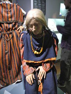 La Tène women's dress reconstructed at the Musée d'Histoire de Berne in Bern, Switzerland.