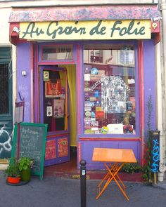 Au Grain de Folie, a vegetarian restaurant in the art district of Paris.